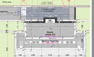 la construction du bassin azur bassin koi. Black Bedroom Furniture Sets. Home Design Ideas