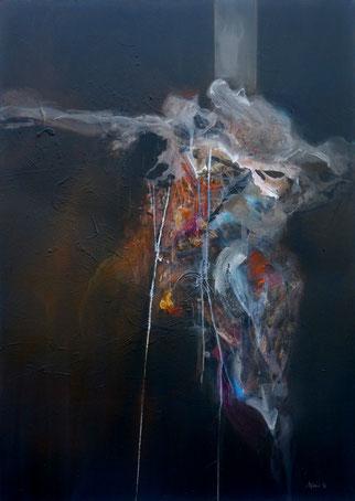 couple Acrylique sur toile dim116cmx81cm