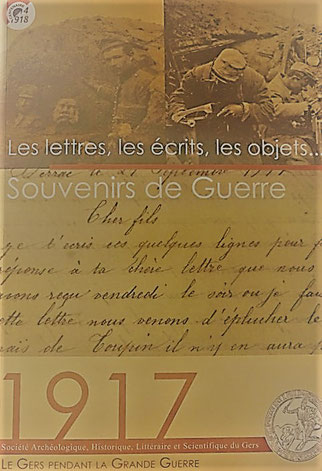 Acte colloque grande guerre 1917 société archéologique du Gers