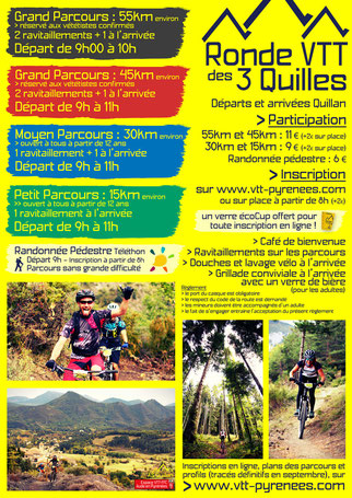 Programme Ronde VTT des 3 Quilles 2016