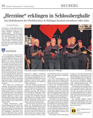 Jahreskonzert Herztöne - Wo-Menvoices Wehingen