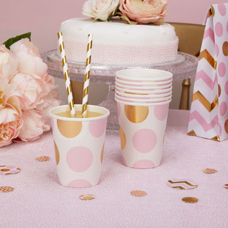 thème pastel rose et or anniversaire 1 an- pink gold party decoration