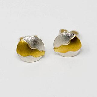 Ohrstecker aus Silber mit schöner Goldbelötung