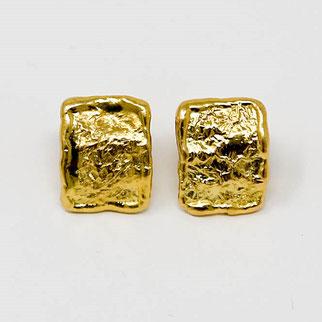 hochwertiger goldener Ohrstecker von Schardelmann Schmuck
