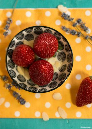 Lavendeln und Erdbeeren sind ein Dreamteam