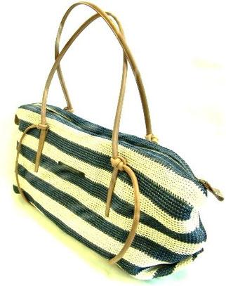 革ひも 麻調編みバッグ