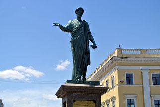 Die Statue vom Duke de Richelieu