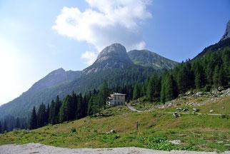 Blick vom Refugio Casera Cason di Lanza