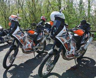 Die 690-Adventure-Zwillinge von KTM Basel