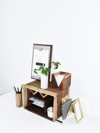 STRUKTUR, modular desk organizing kit designed in Zurich by Yael Anders