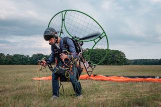 Motorschirm Fussstarten Gin Gliders Pegasus2