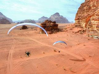 Wadi-Rum Paramotoring Jordan