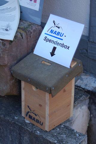 Spendenbox Foto: NABU/Ingmar Stelzig