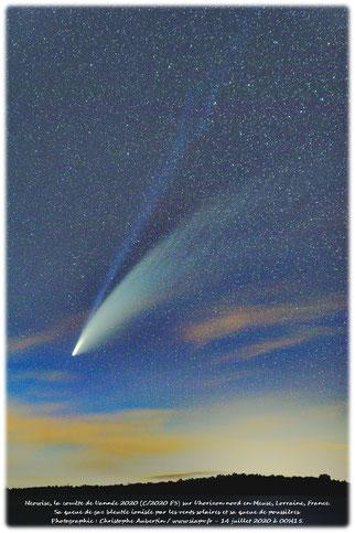 Comète Neowise C/2020 F3 en Lorraine - 14 juillet 2020.