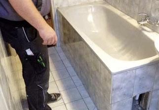 und so funktioniert der badumbau der wanne zur dusche bad teilsanierung mit system. Black Bedroom Furniture Sets. Home Design Ideas