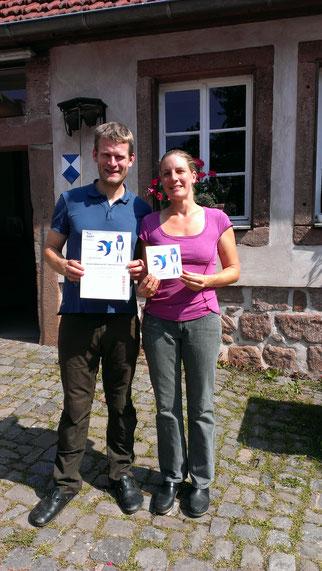 Nina und Sebastian Kill vom Bärenbrunnerhof