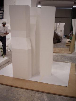 Modelo del Arquitecto Zaera, realizado para la exposición Eurasia Extrema,  Expo Universal en Achí, Japón