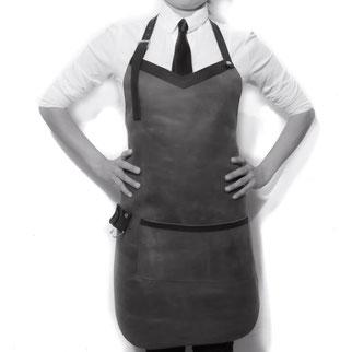 Diseño mandil para chef, bartender, barman y mandiles para barbero en piel