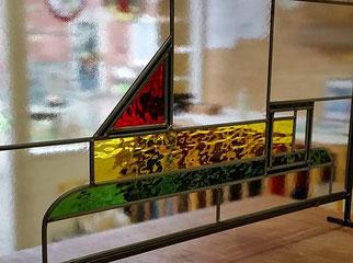 Glas in lood paneel in standaard