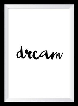 Typografie Poster Inspiration, dream