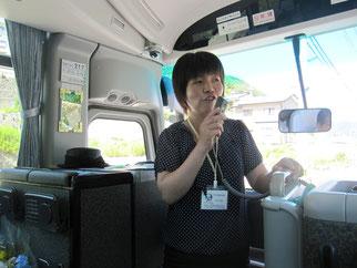 女川町ボランティア阿部さんより震災時の状況や現状の問題点、今後の復興計画等の説明を受けました