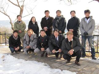 FKJ参加会員と日和公園にて