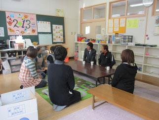 放課後児童クラブの活動内容と子供たちの現状をお話し頂きました