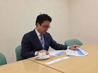 FKJの理念と活動に真剣に耳を傾けて頂いている島田議員