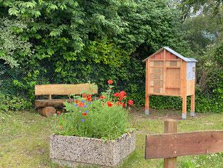 Wildbienen Bienen Insekten Nisthilfen Nahrung Nahrungsangebot Blühwiesen Blühflächen Insektenschutz Insektensterben NABU Düren