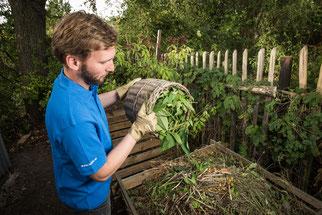 Komposthaufen im Garten NABU Düren