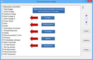 Textbausteine, Vorlagen und Formualre zentral verwalten