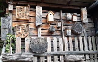 Nisthilfen für Wildbienen und Wespen