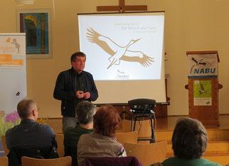 Grußworte von Bernd Heinitz, Vorsitzender des NABU Sachsen. Fotos: Karsten Peterlein