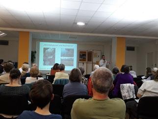Der Ronny Wolf, Biologe an der Uni Leipzig, gab in einem Vortrag Informationen zum Biber. Fotos: René Sievert