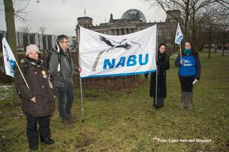 Flagge zeigen vor dem Berliner Reichstag. Foto: Ludo Van den Bogaert