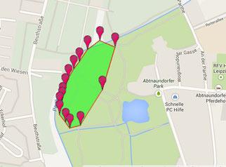 Abtnaundorfer Park, mittlerer Bereich, ca. 3 ha