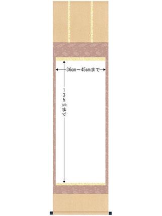 三段表装 作品サイズ 尺五