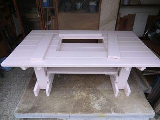 ガーデンテーブル修理
