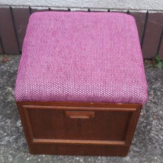 鏡台椅子(いす)座面張替