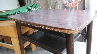 テーブル修理_天板割れ