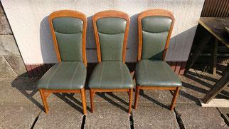 修理した椅子