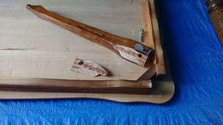 テーブル脚修理