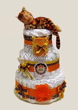 """Торт из памперсов """"Малыш Тигрёнок""""  (из коллекции """"Сладкий сон"""")"""