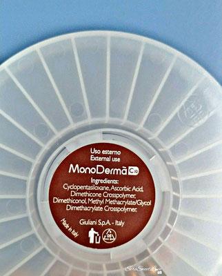 retro confezione plastica a ruota MonoDermà con scritto Inci