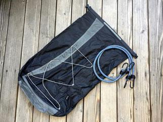 Leichtgewichtsrucksack, 80g, leichter Packsack mit Trageriemen