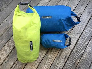 Ortlieb Packsäcke klein, unterschiedliche Größen und Farben