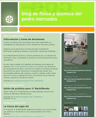 Blog del departamento de Física y Química