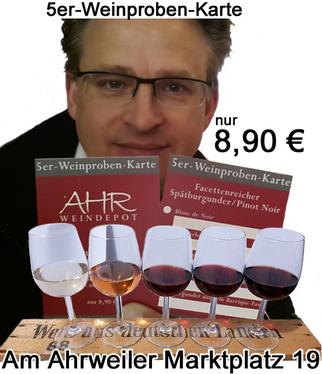 5er Weinprobe am Ahrweiler Marktplatz im Ahrweindepot