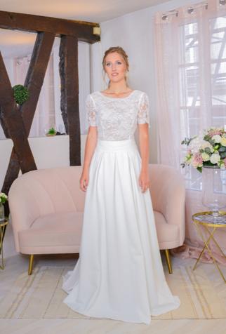 robe de mariée crepe de soie yvelines region parisienne