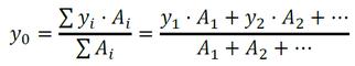 Formel zur Berechnung des Schwerpunktabstandes in y-Richtung